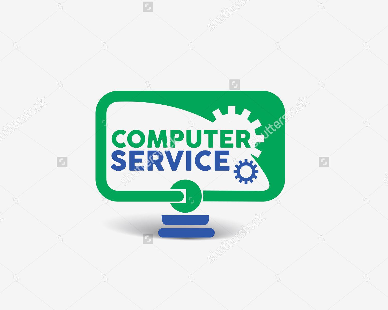 computer service logo vector