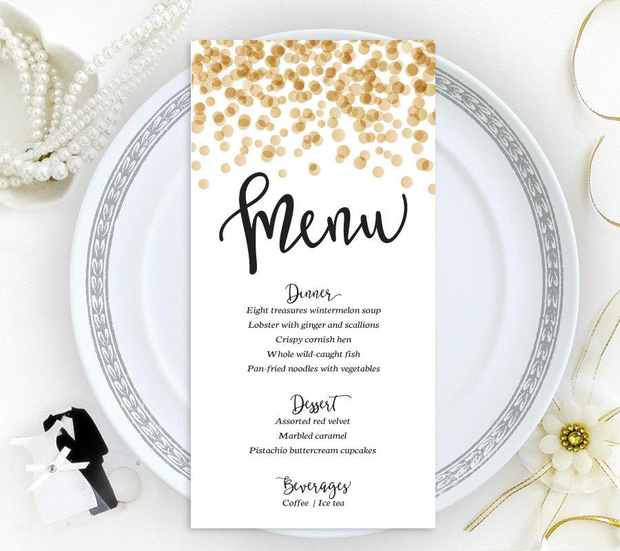 15 wedding menu card designs design trends premium psd confetti wedding menu card junglespirit Gallery