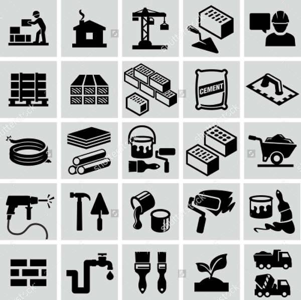 Construction Material Icons