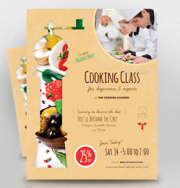Cooking Class Promotion Flyer
