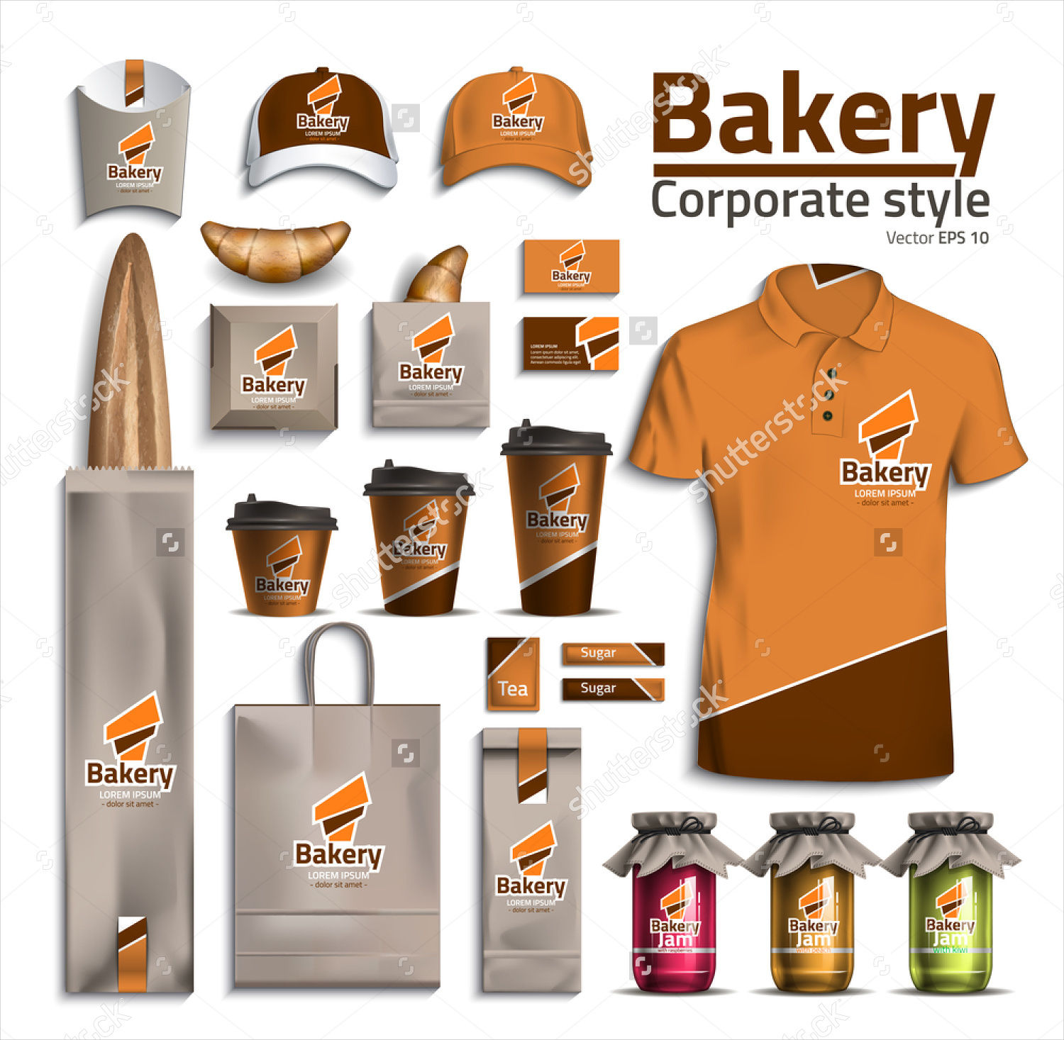 corporate bakery style packaging design