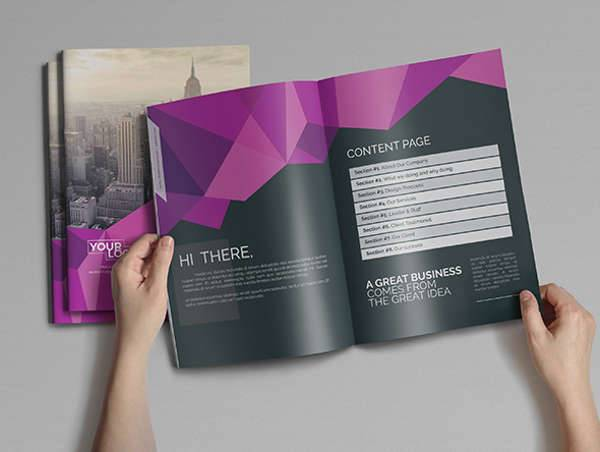 Corporate Bifold Brochure Catalog