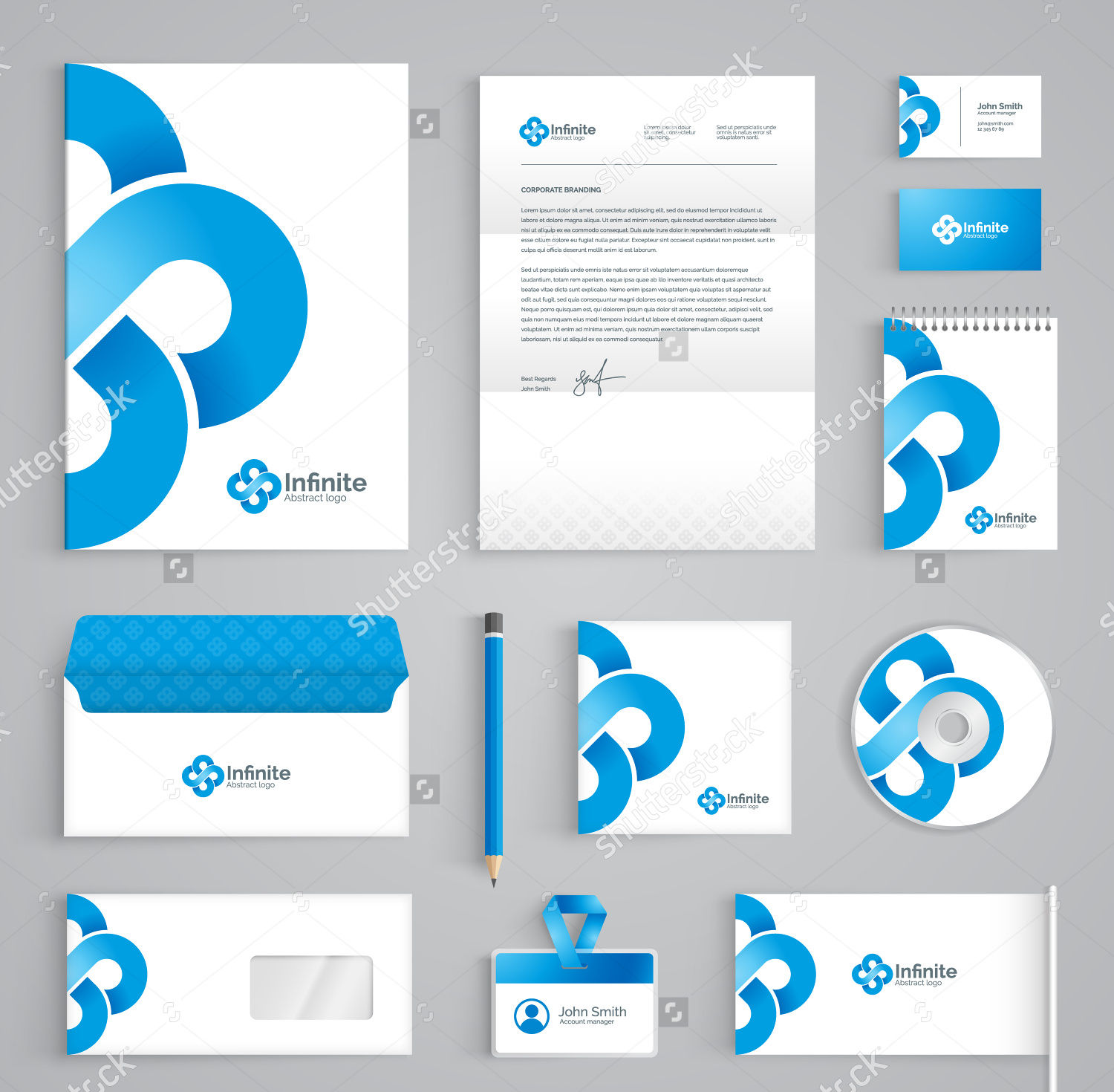 corporate brand stationery identity design