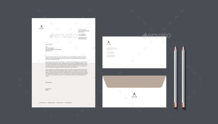 Corporate Business Letterhead & Envelope