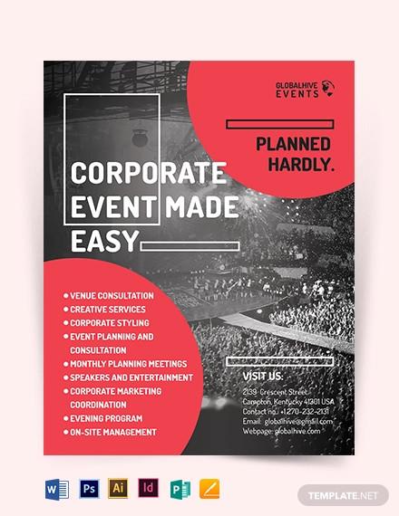 corporate event flyer template