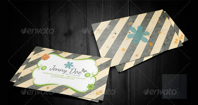 craft business visiting card