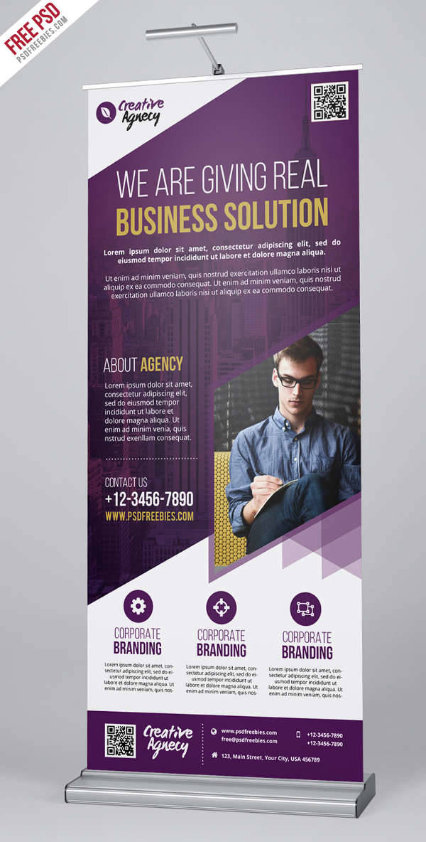 creative advertising agency roll up banner