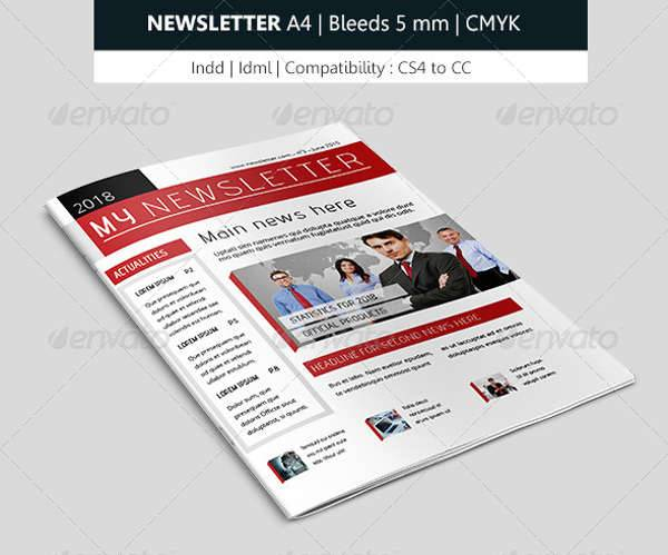 creative indesign newsletter design template