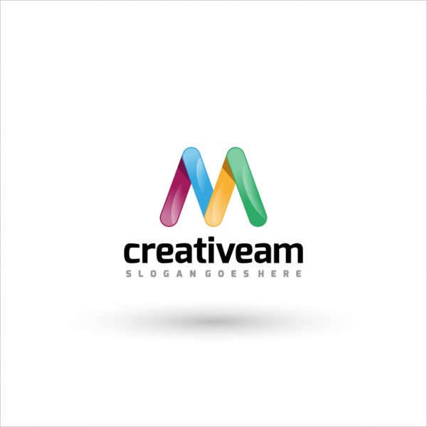 Creative M Letter Company Logo