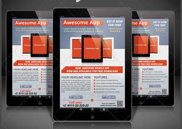 Creative Mobile App Flyer