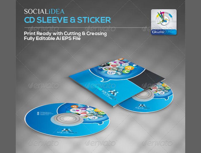 creative social media cd packaging