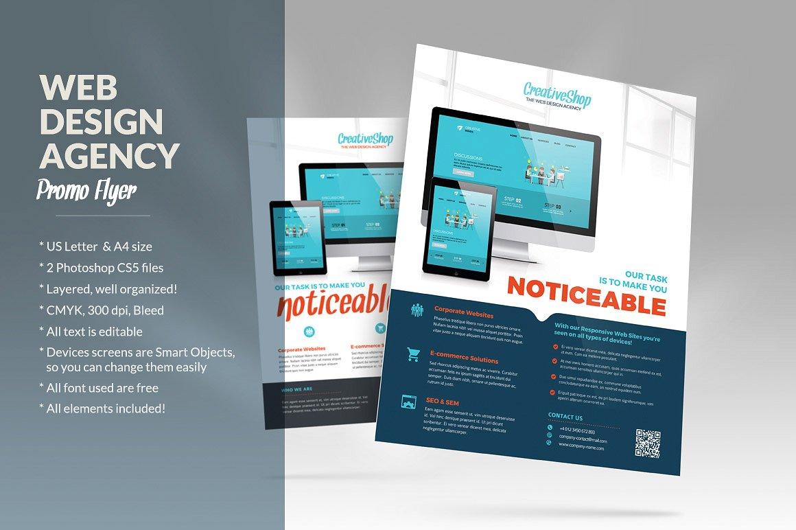 Creative Web Design Flyer