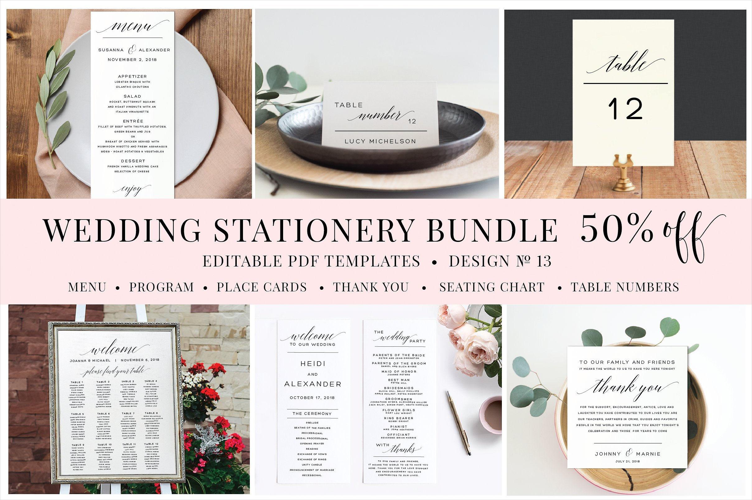 creative wedding stationery bundle