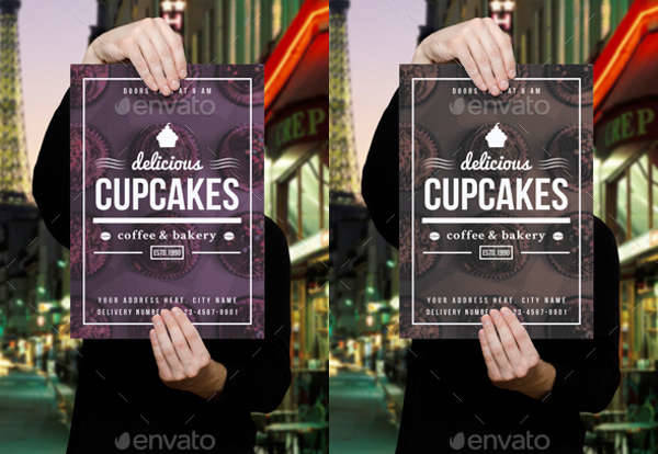 Cupcake Coffee and Bakery Flyer