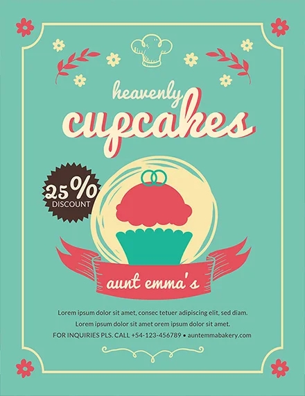 cupcake bakery flyer3