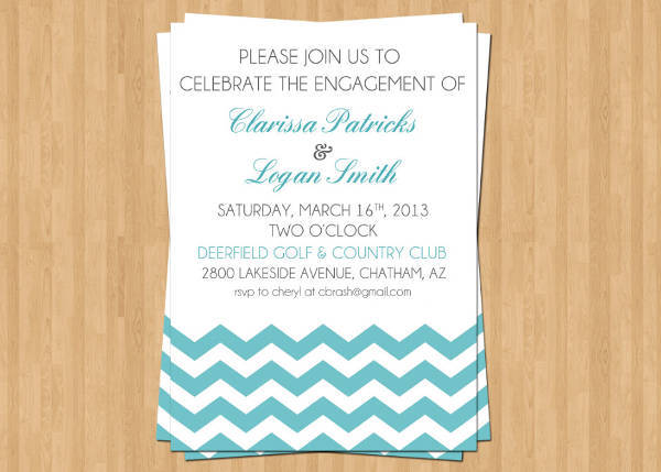 Custom Engagement Event Invitation