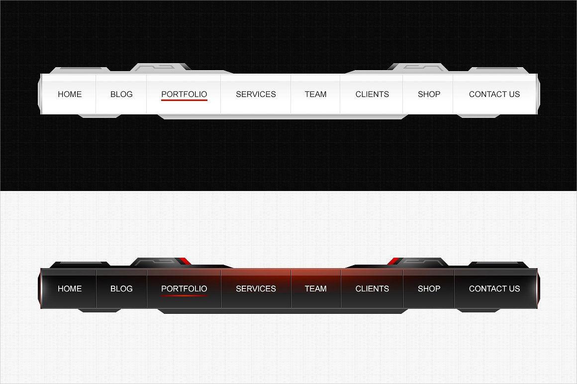 custom navigation menu