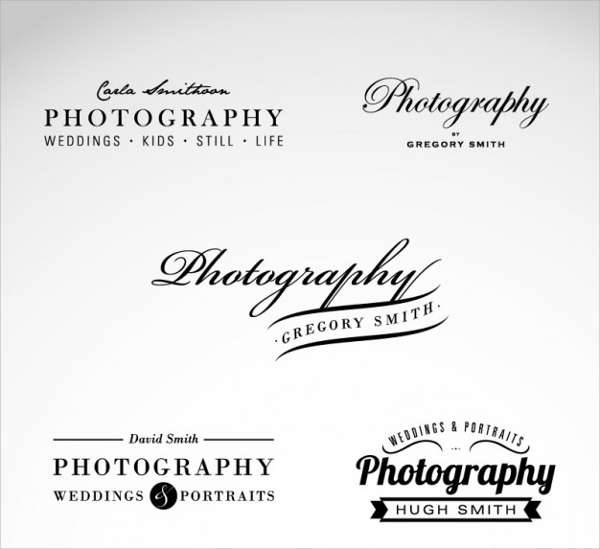 custom photography business logo