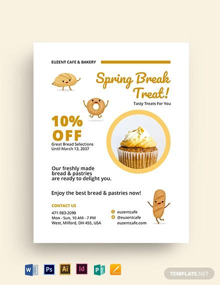 cutie treats bakery flyer template