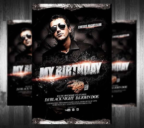 DJ Birthday Party Flyer