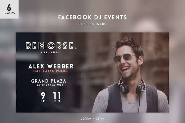 DJ Events Facebook Post Banner
