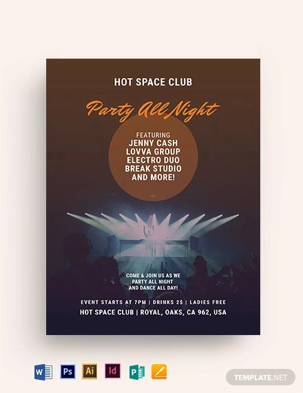 dance club event flyer template