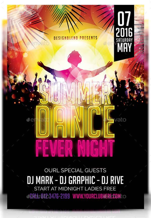 Dance Party PSD Flyer Design