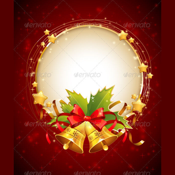 decorative christmas card design