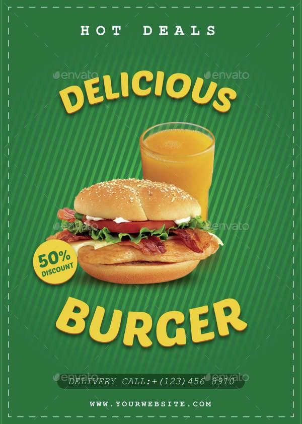 Delicious Burger Flyer