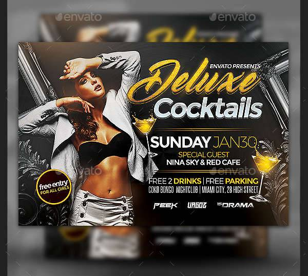 Deluxe Cocktail Party Flyer