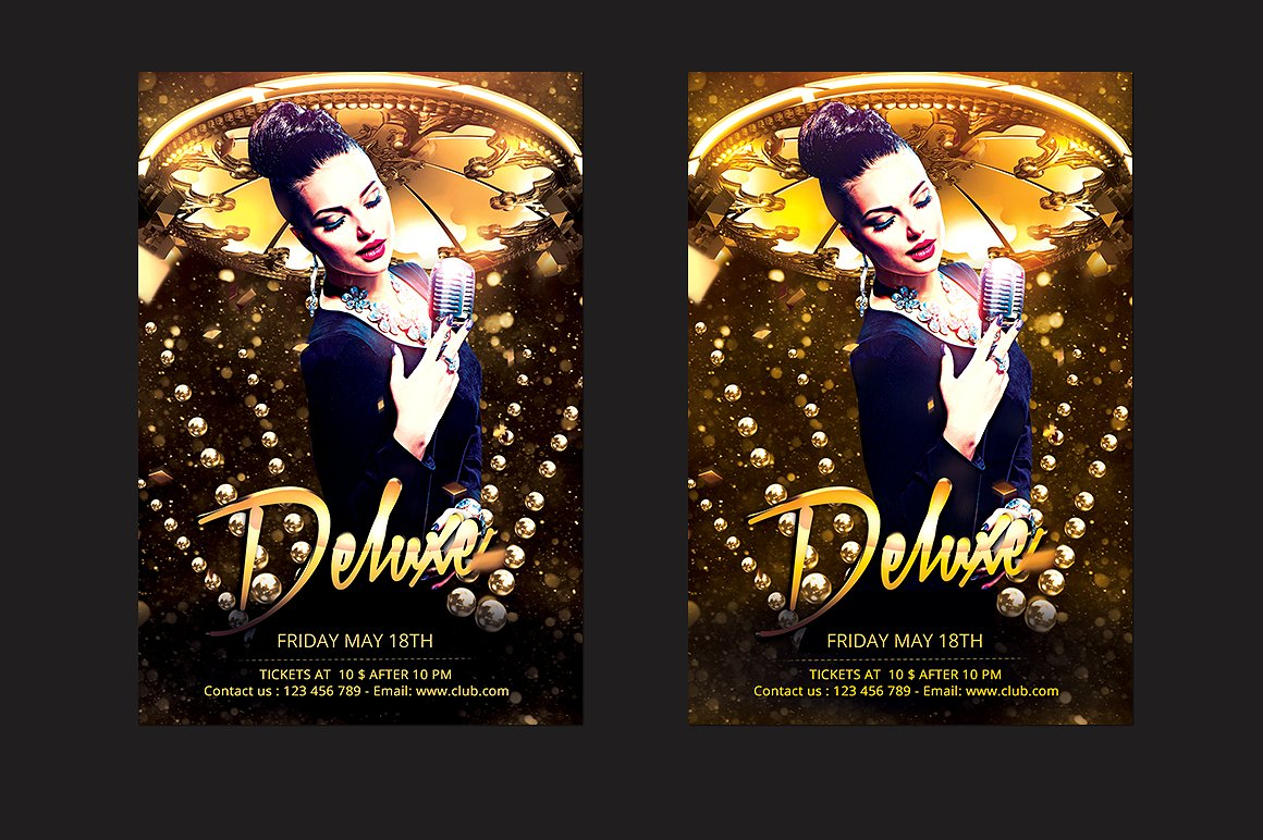Deluxe DJ Party Flyer
