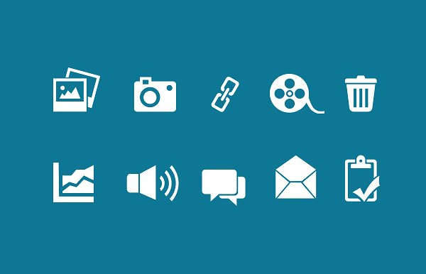 digital media icons