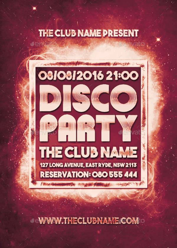 Disco Party Event Flyer