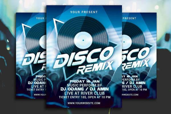 Disco Party Flyer Design
