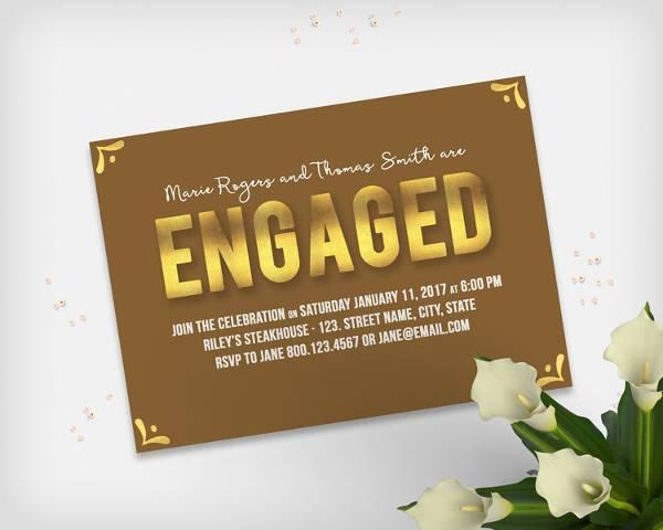 Diy Engagement Invitation Card