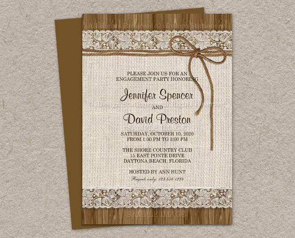 Diy Rustic Engagement Invitation