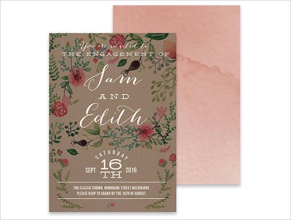 Diy Vintage Engagement Invitation