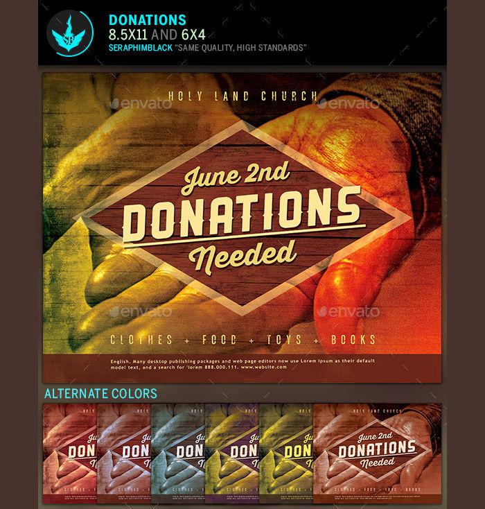 Donation Church Flyer