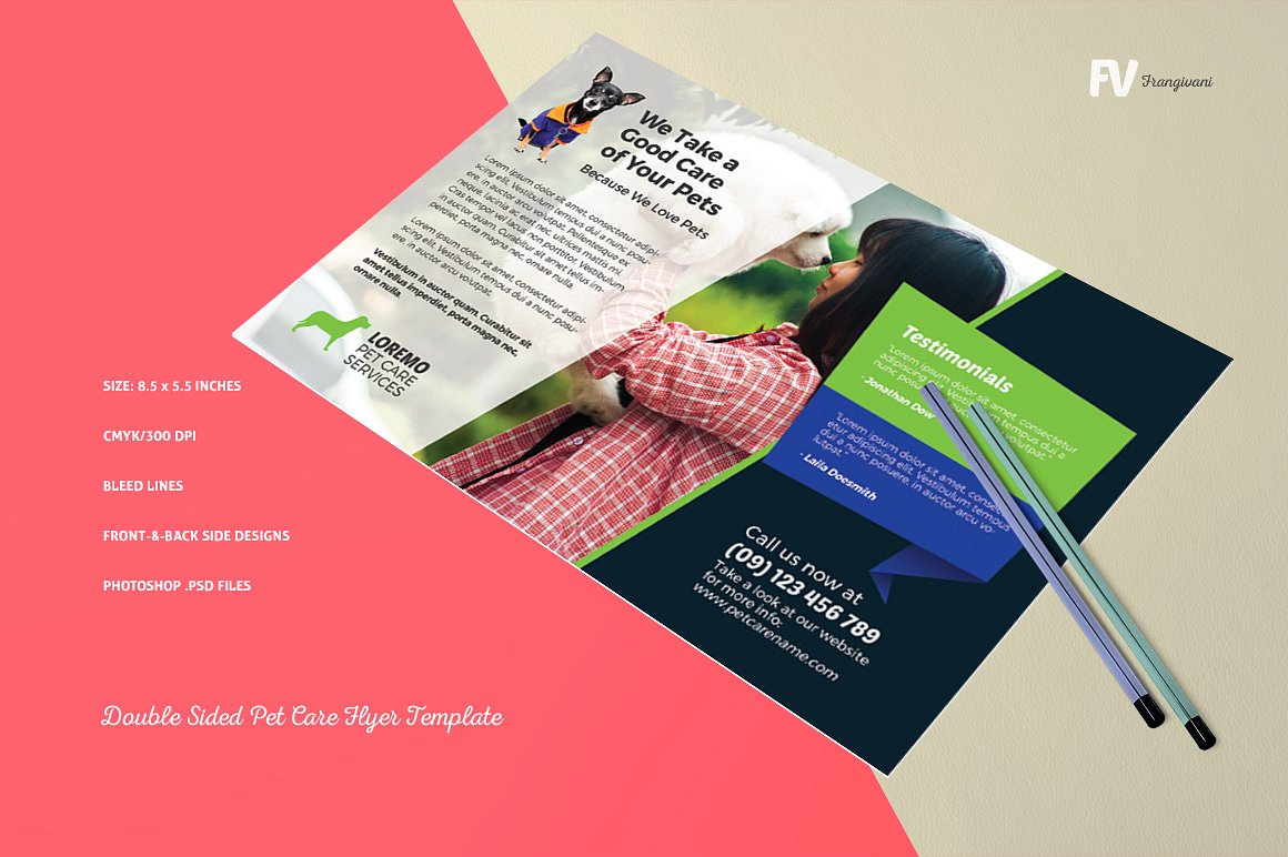 15 double sided flyers design trends premium psd for Double sided brochure template