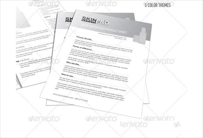 Double Sided Product Sheet Flyer Template