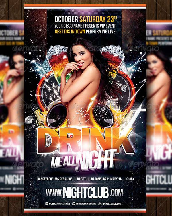 Drink Party Flyers