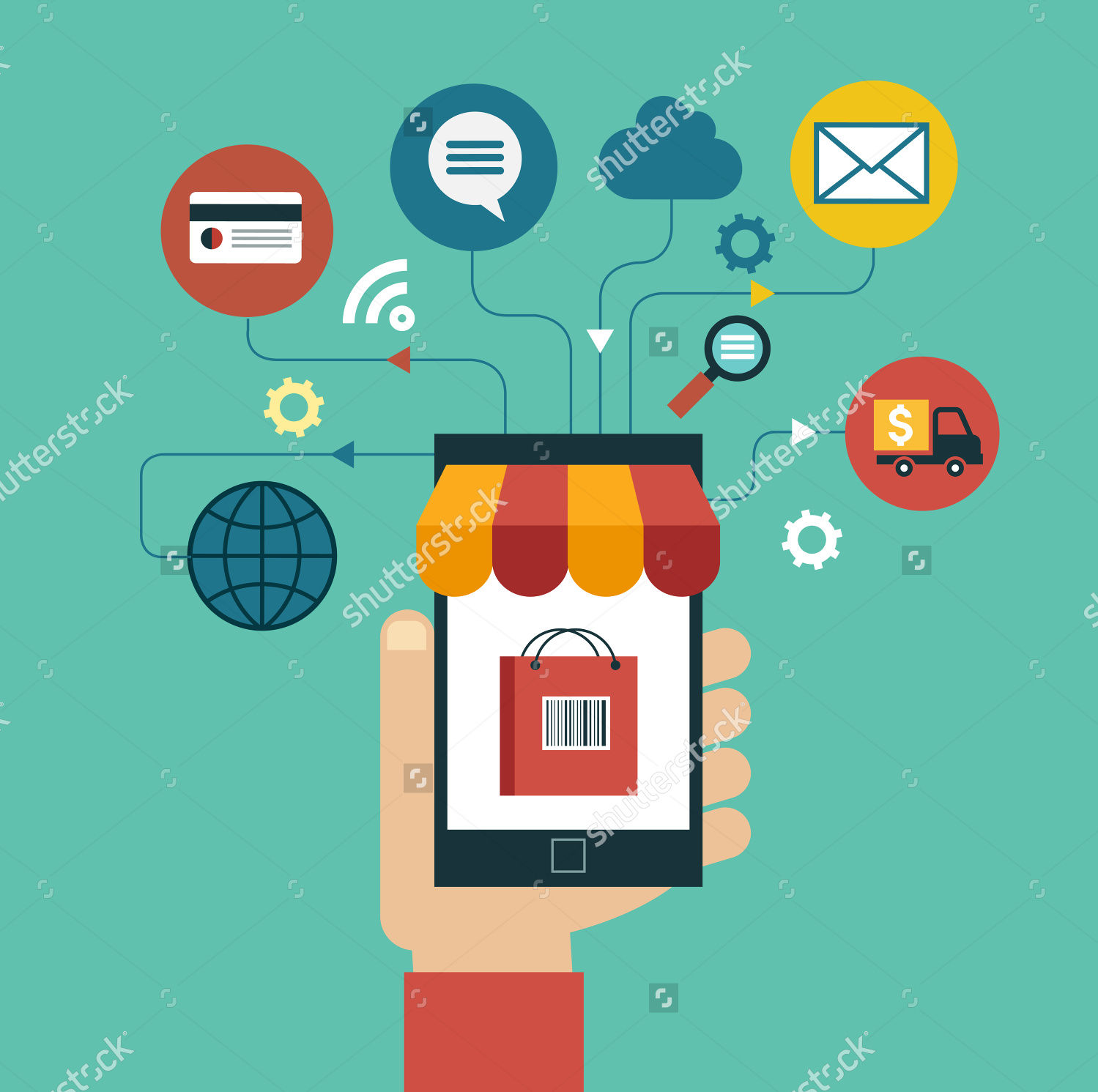 e commerce flat illustration concept