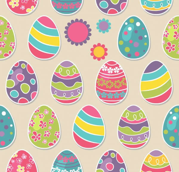 easter eggs patterns