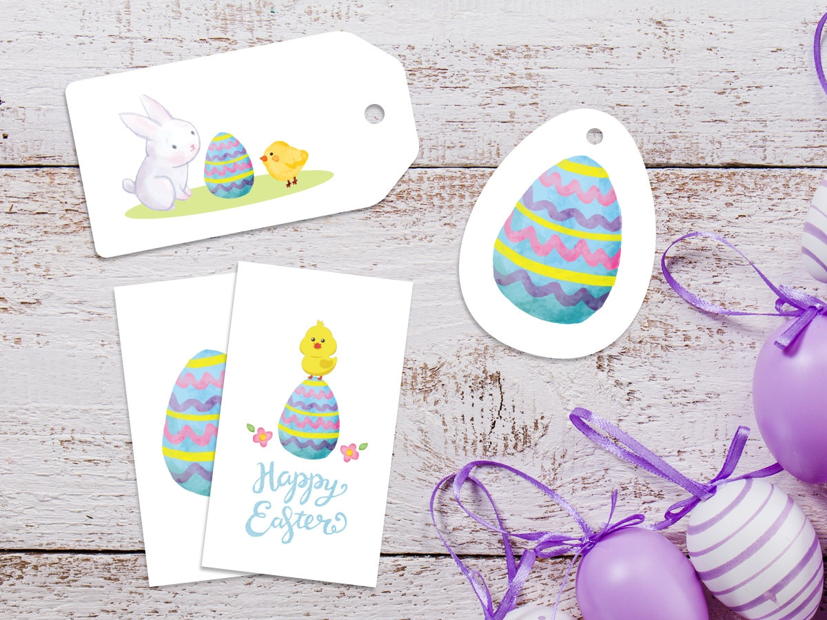 easter gift tags labels