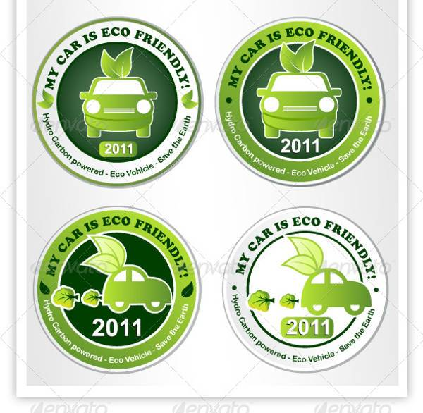 Eco Car Sticker