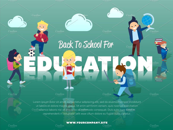 education school banner