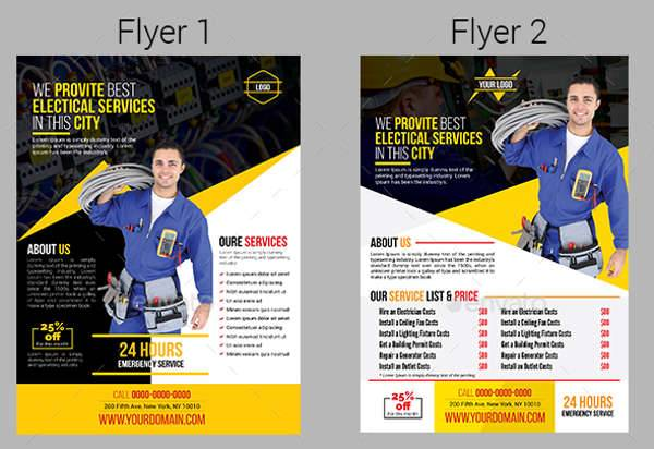 Electrical Services Flyer Template