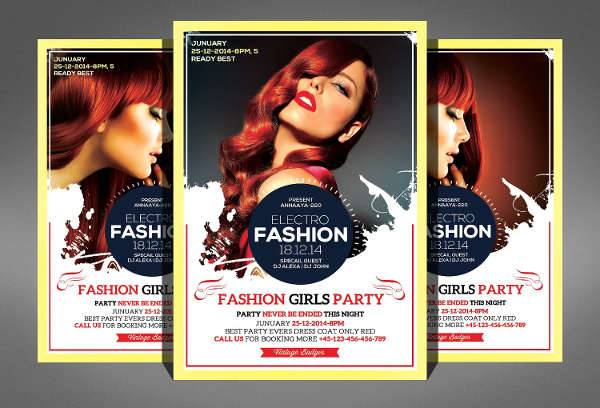 electro fashion beauty flyer