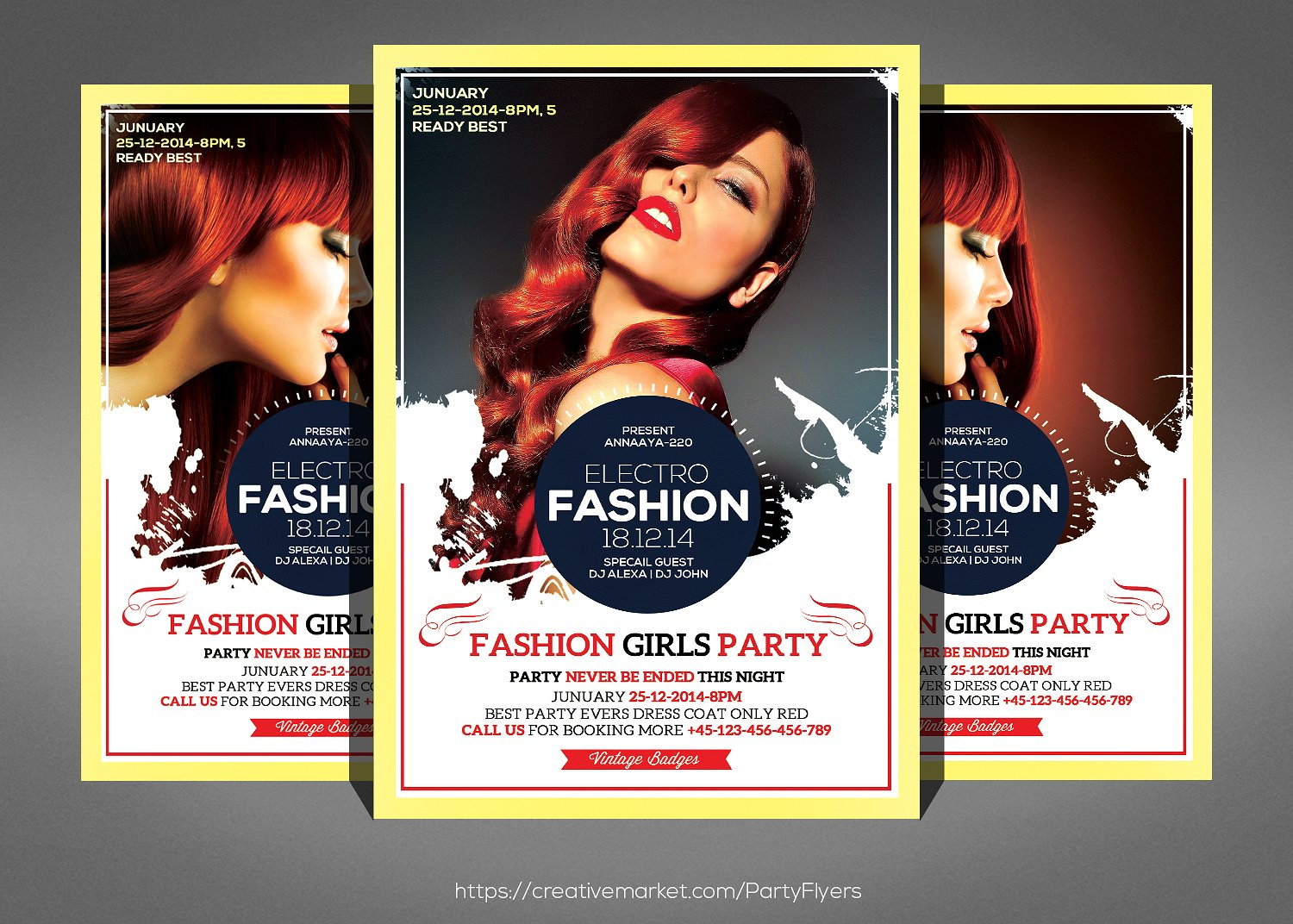Electro & Fashion Glasses Flyer Double Sided