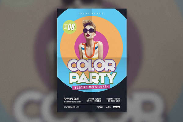 Electro Party Flyer Design